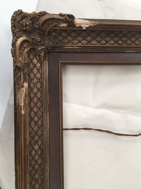 CBreeze Sample of a Before the Restoration of the Gilt Antique Frame